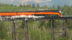 SP4449 over Two Medicine River Bridge on Marias Pass